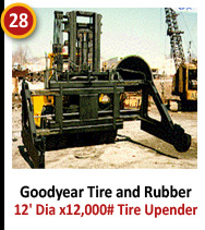 Goodyear Tire and Rubber - 12' Dia x 12,000# Tire Upender Raised Forks